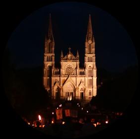 Pierres en lumières, visite de la Basilique
