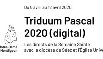 Triduum Pascal 2020 : les directs de la Semaine Sainte avec le diocèse