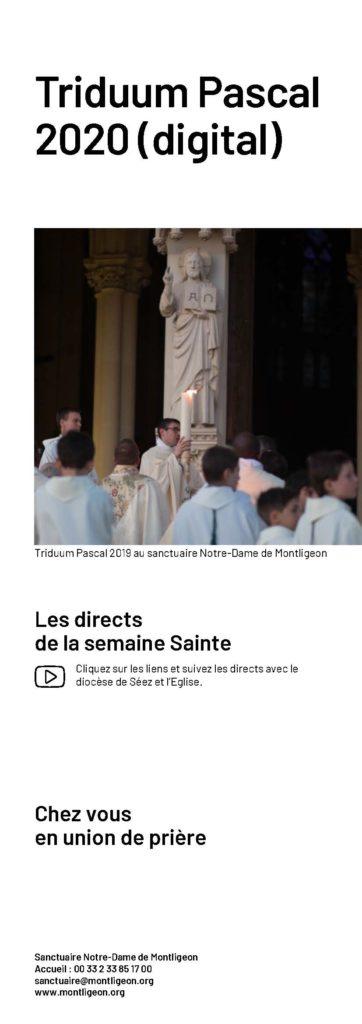 Les directs de la semaine Sainte Cliquez sur les liens et suivez les directs avec le diocèse de Séez et l'Eglise.