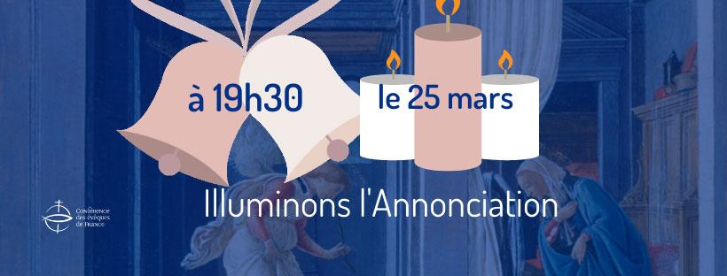 1 bougie, 10 minutes de communion, Mercredi 25 mars à 19h30 !