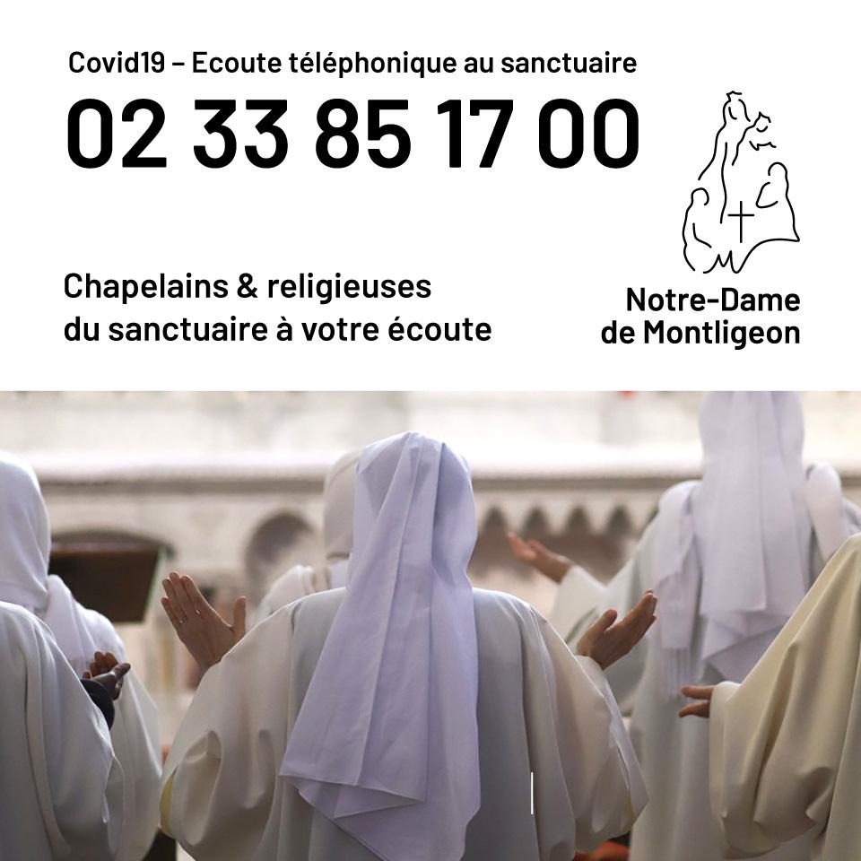 COvid 19 - Les chapelains et religieuses du sanctuaire à votre écoute