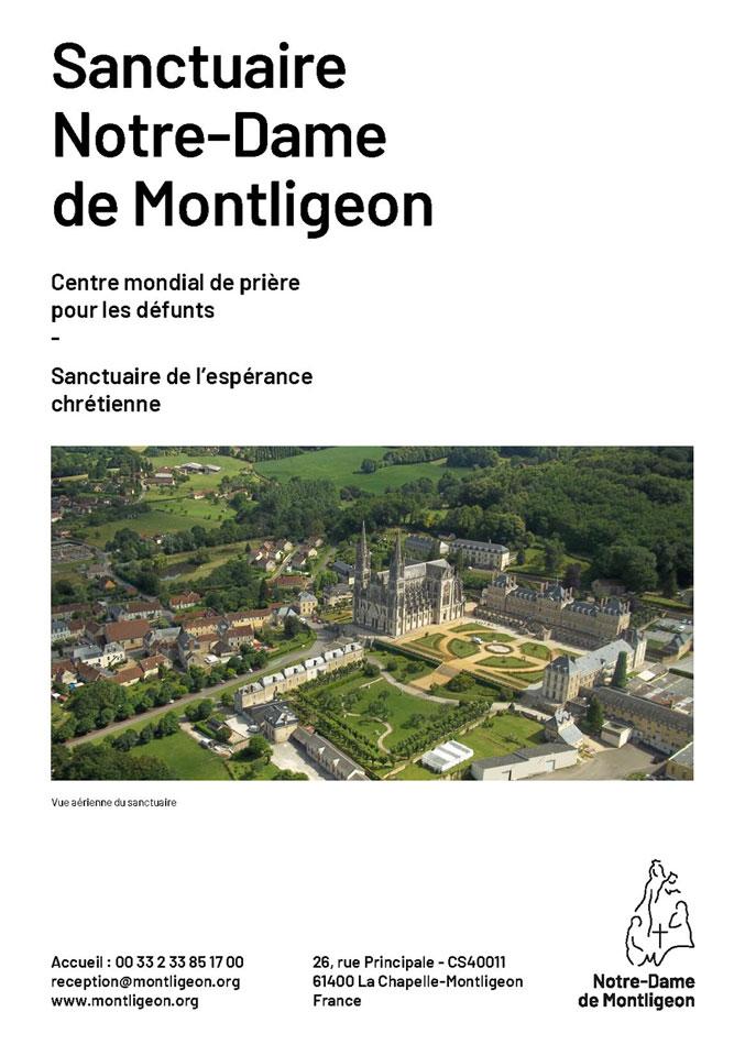 4 pages de présentation du sanctuaire Notre-Dame de Montligeon