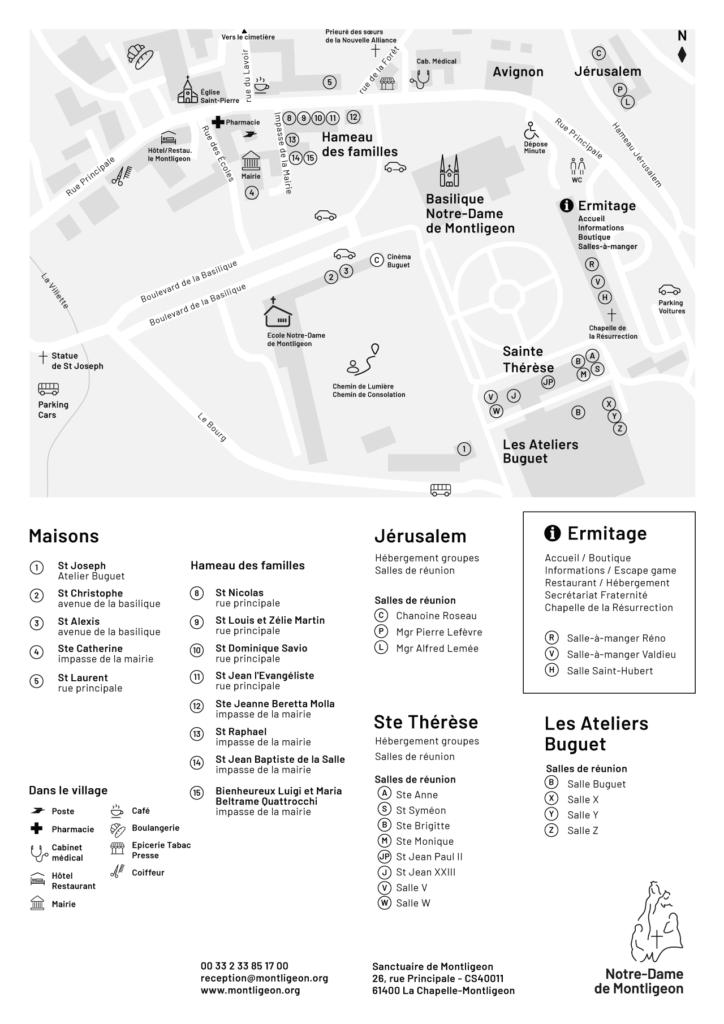 Plan du Sanctuaire Notre-Dame de Montligeon