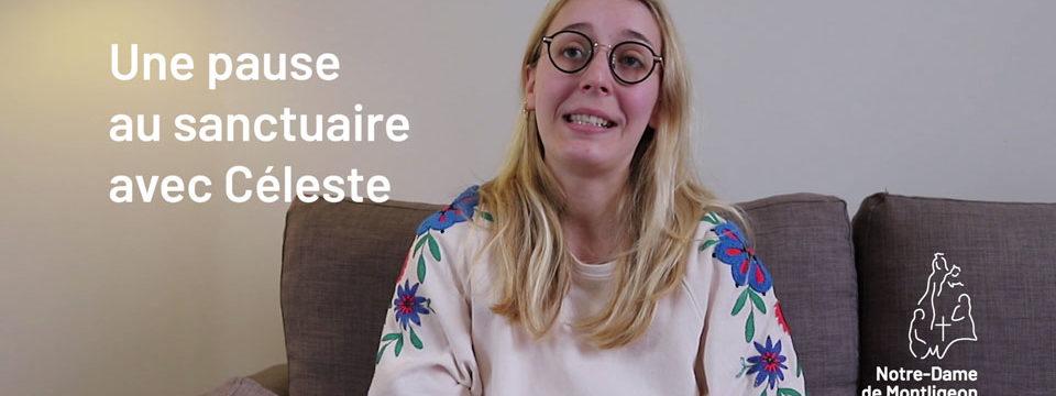 Céleste, 23 ans, étudiante à Paris est venue au sanctuaire pour prendre du temps pour elle et surtout avoir du calme pour ses révisions.