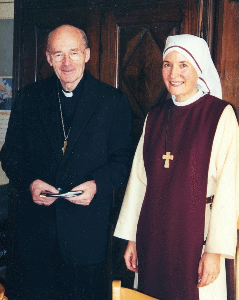 Soeur Marie Aimée et Mgr Dubigeon
