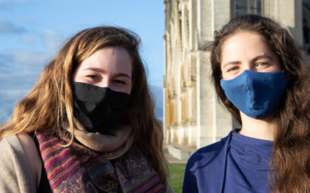 Wera et Elisabeth, bénévoel Wemps au sanctuaire de Montligeon
