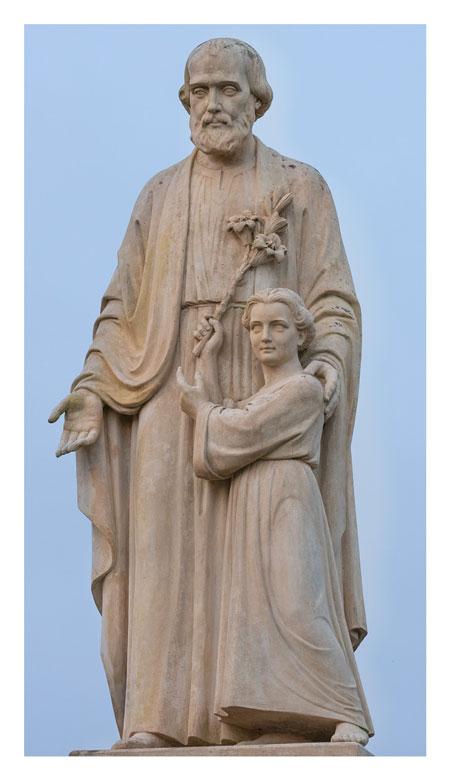 Carte prière à Saint Joseph disponible à l'accueil du sanctuaire de Montligeon
