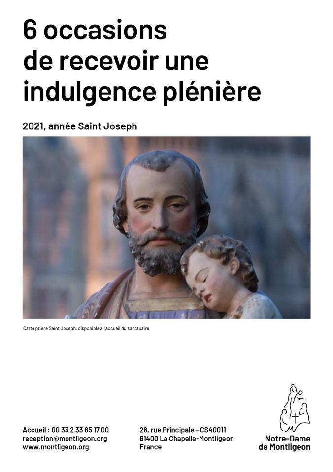 6 occasions de recevoir une indulgence plénière avec saint joseph